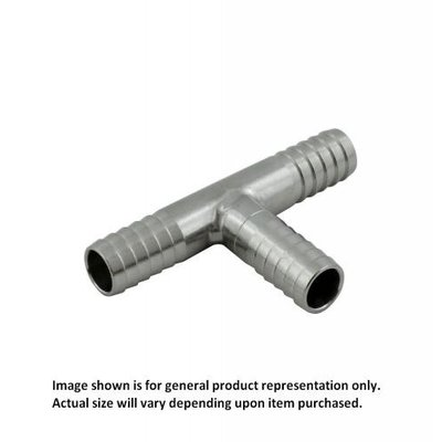 "Foxx Equipment Stainless Steel Barbed Tee - 1/4"" barbs"