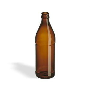 Beer and Wine Amber Belgian Beer Bottle, 16 oz
