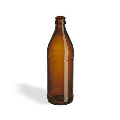 Beer and Wine Amber Belgian Beer Bottle, 16 oz