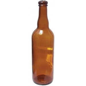 Beer and Wine Amber Belgian Beer Bottle, 750 mL