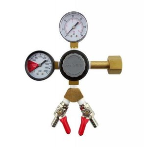 "Taprite TapRite Dual Guage Co2 Regulator - Two 1/4"" MFL Shutoffs"