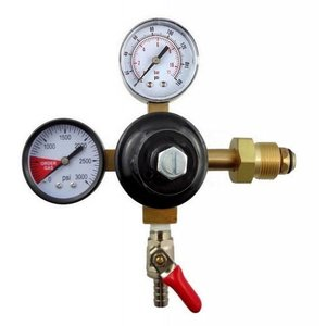 "Taprite Taprite Dual Gauge Nitrogen Regulator - Single 1/4"" MFL shutoff"