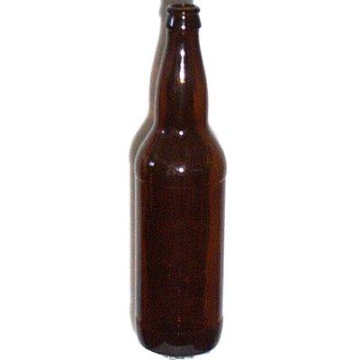 Beer and Wine Amber Beer Bottles, 22oz