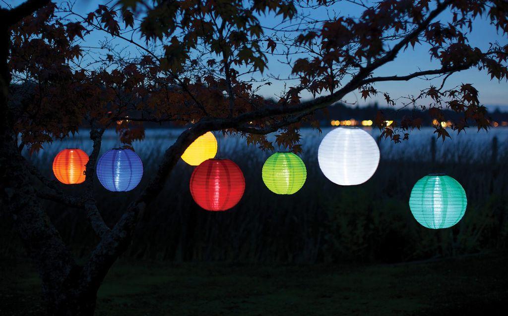 Home And Garden Soji Solar Lantern Blue