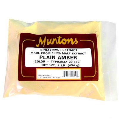 Beer and Wine Muntons Plain Amber DME; 1 lb