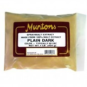 Beer and Wine Muntons Plain Dark DME; 1 lb