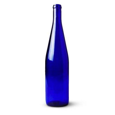 Beer and Wine Cobalt Blue Hock Wine Bottle
