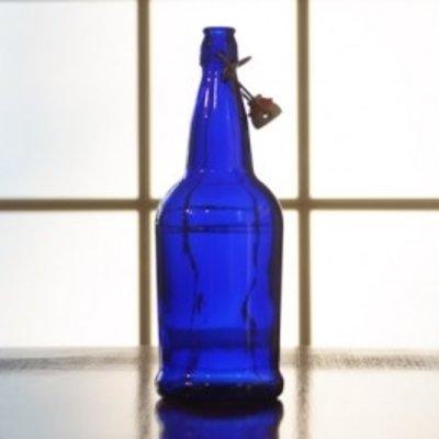 Beer and Wine Blue EZ Cap Swing Top 1 L Bottle - Single