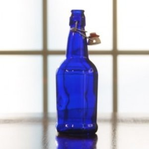Beer and Wine Blue EZ Cap Swing Top 16 oz Bottles - 12/case