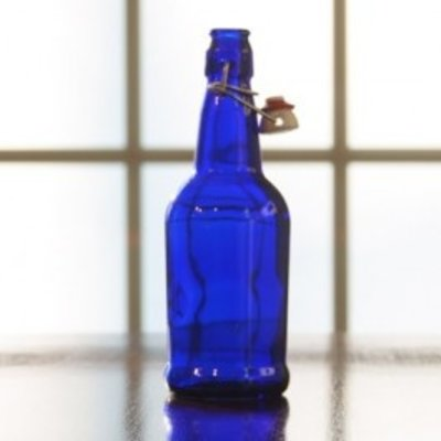 Beer and Wine Blue EZ Cap 16 oz Bottles - 12/case