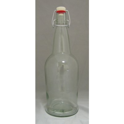 Beer and Wine Clear EZ Cap 1 L Bottles - 12/case
