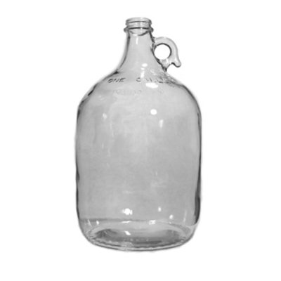Beer and Wine Clear 1 Gallon Glass Jug - Case/4