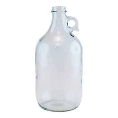 Beer and Wine Clear Growler Jug - 1/2 gallon