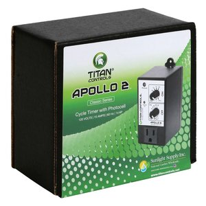 Indoor Gardening Titan Apollo 2- Cycle Timer with Photocell
