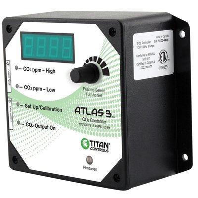 Indoor Gardening Titan Atlas 3-Day/Night CO2 Monitor/Controller