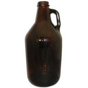Beer and Wine Amber Growler (Jug) - 1/2 gal