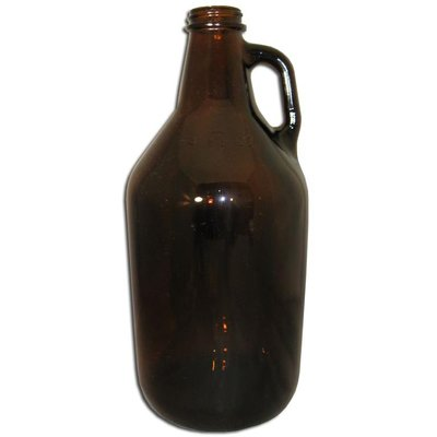 Beer and Wine Amber Growler - 1/2 Gal (6/cs)