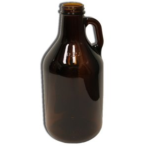 Beer and Wine Amber Growler (Jug)- 1/4 gal