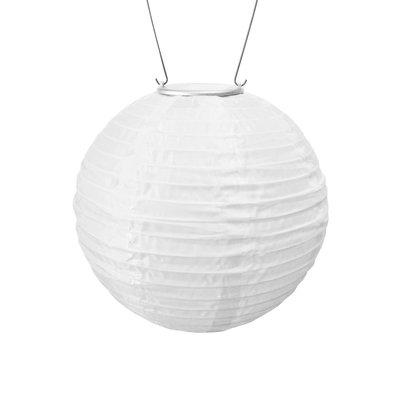 Home and Garden Soji Solar Lantern - White (Amber Light)