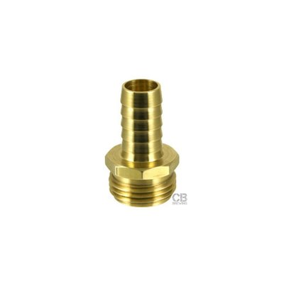 Beer and Wine Garden Hose Fitting, Male 3/8 Inch Barb (Brass)