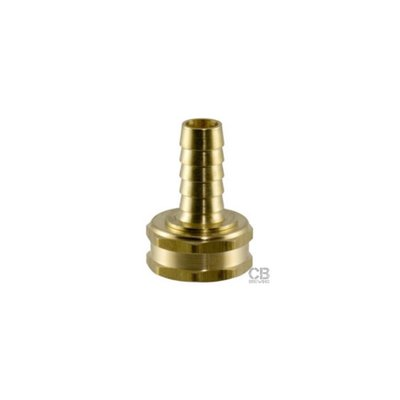 Beer and Wine Garden Hose Fitting, Female 3/8 Inch Barb (Brass)