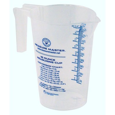 Indoor Gardening Measure Master Graduated Measuring Cup - 8oz / 250ml