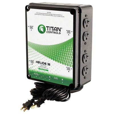 Indoor Gardening Titan Controls Helios 12 Lighting Controller - 8 Light 240v w/ Dual Trigger Cords