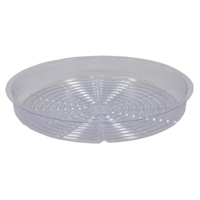 Indoor Gardening Clear Plastic Saucer - 14 inch