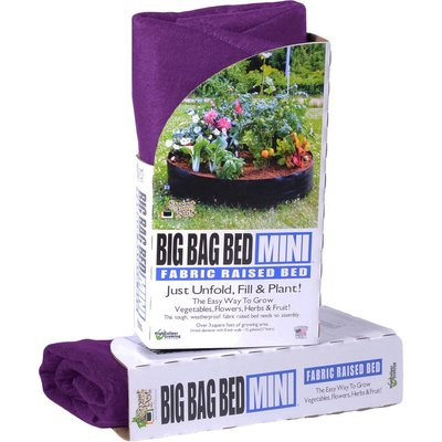 Outdoor Gardening Smart Pot - Big Bag Bed Mini - 15 Gallon - Purple