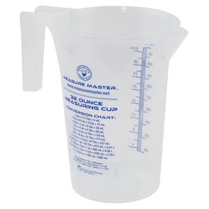 Indoor Gardening Measure Master Graduated Round Container - 32oz / 1000ml