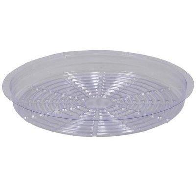 Indoor Gardening Clear Plastic Saucer - 12 inch