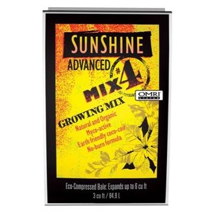 Sun Gro Sunshine Organic Advanced Mix #4 - 3 cu ft bale