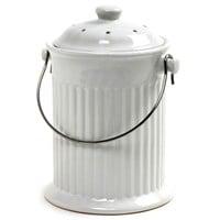 Norpro White Ceramic Counterop Compost Crock