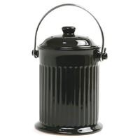 Norpro Black Ceramic Countertop Compost Crock
