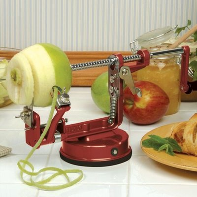 Urban DIY Apple Master Apple Peeler - Red w/ Vacuum Base & Clamp