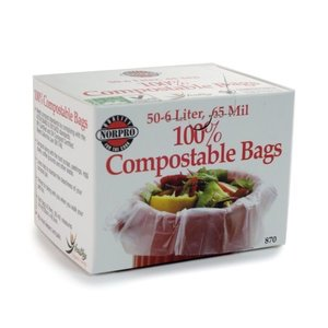 Outdoor Gardening Biodegradable Compost Bin Bags - 50 count