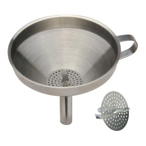 Norpro Stainless Steel Funnel with Strainer - 5.5 inch