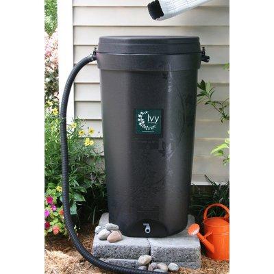 Rain Water Solutions Black Ivy Rain Barrel - 50 Gallon