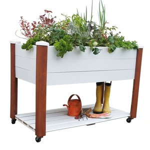 Home and Garden Gronomics Vinyl Wrapped Elevated Garden Bed - 24x47x33