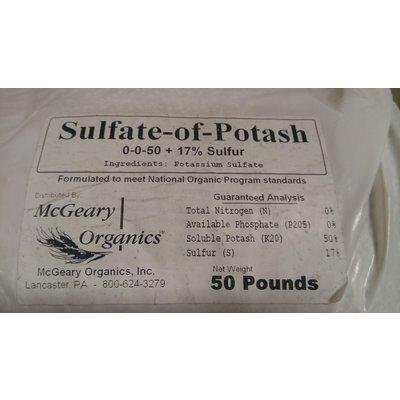 Outdoor Gardening McGeary Organics Sulfate of Potash (0-0-50) - 50lb