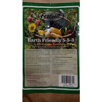 Outdoor Gardening Fertrell All Purpose Organic Fertilizer, 5-5-3, 25 lb