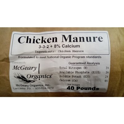 McGeary Organics McGeary Organics Chicken Manure - 40 lb