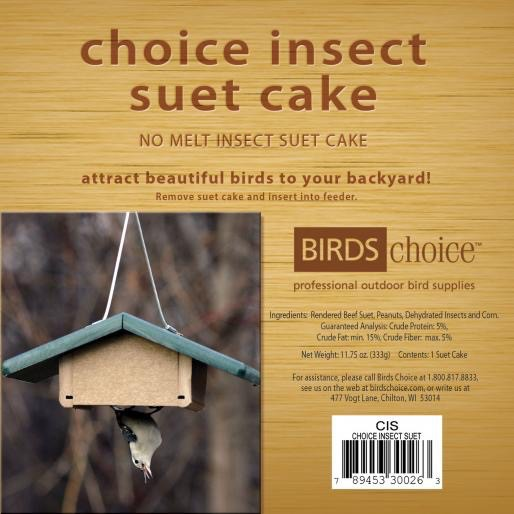 Choice Insect Suet Cake