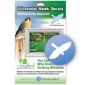 Home and Garden Window Alert Hawk Decal