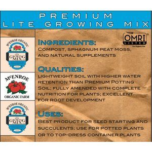 Outdoor Gardening McEnroe Premium Organic Lite Mix-  22qt