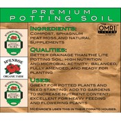 McEnroe Organic Farm McEnroe Premium Organic Potting Soil-22 qt