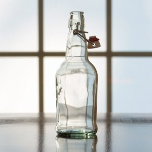Beer and Wine Clear Flip Top 16 oz Bottle - Single