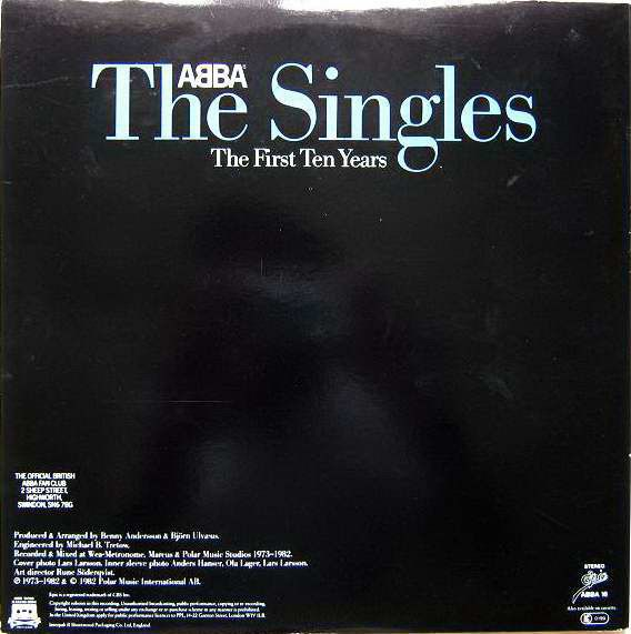 LP - The Singles - First Ten Years - ABBA - *Original Pressing*
