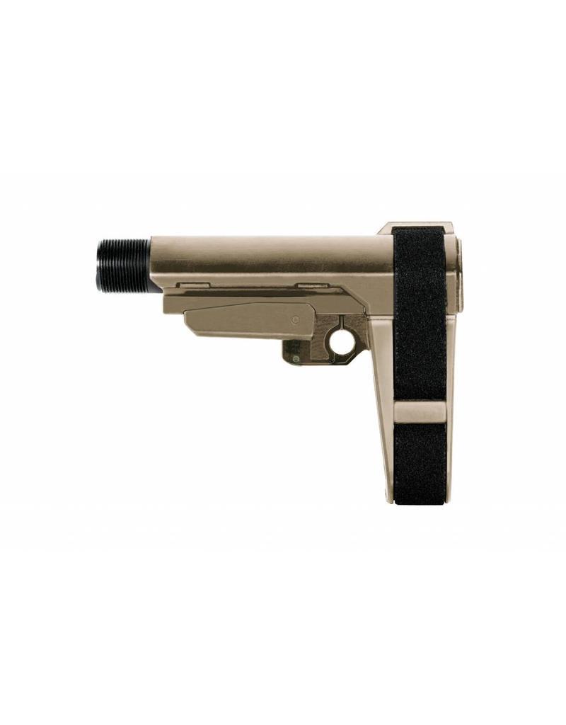 SB Tactical 5 Position AR15 Adjustable Brace FDE