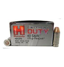 Hornady 40SW 175GR CRT DUTY 20/200